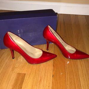 Stuart Weitzman Shoes - Stuart Weizmann Daisy Red Quasar Heels